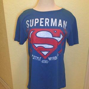 Superman T-Shirt Juniors Size 11/13